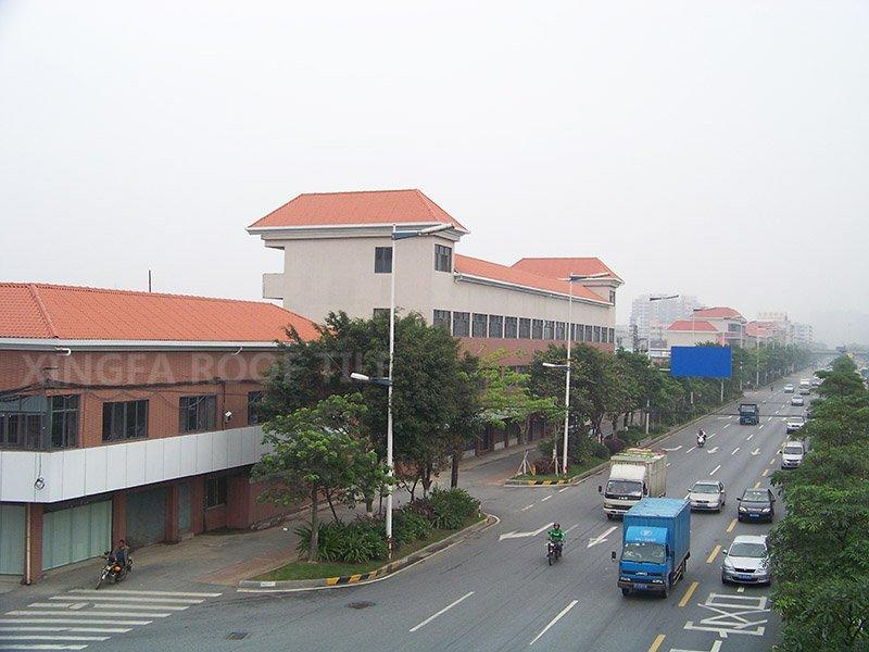 ASA roof for urban transformation project