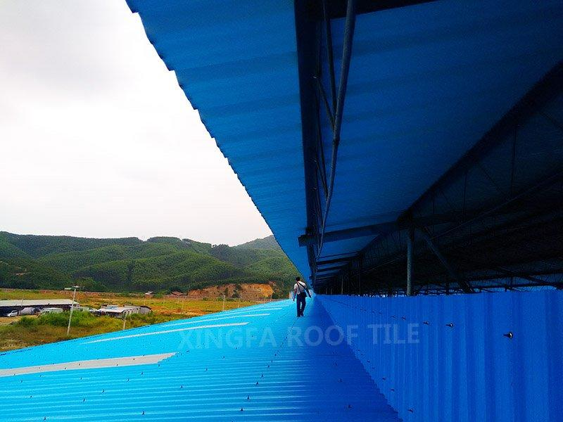 upvc roof tile for factory project