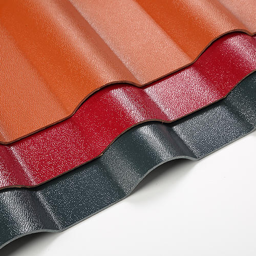 Brick Red ASA Synthetic Resin Roof Sheet