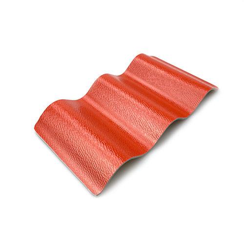 Brick red ASA PVC Corrugated Roof Sheet C1130